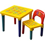 Popamazing Kids Children Nice Educational Furniture Alphabet Learn & Play ABC Table And Chair Set