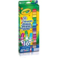 Crayola 16 Pip-Squeaks Broad Line Washable Markers, School and Craft Supplies, Gift for Boys and Girls, Kids, Ages 3,4, 5, 6 and Up, Holiday Toys, Stocking Stuffers, Arts and Crafts, Easter Basket Stuffers, Easter Gifting