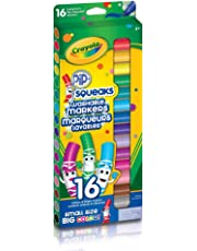 Crayola 16 Pip-Squeaks Broad Line Washable Markers, School and Craft Supplies, Gift for Boys and Girls, Kids, Ages 3,4, 5, 6 and Up, Back to school, School supplies, Arts and Crafts,  Gifting