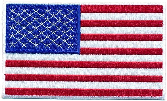 Hegibaer 30 X 20 Mm Amerika Flagge Usa Flag Washington Patch Aufnäher Aufbügler 0640 Mini Auto