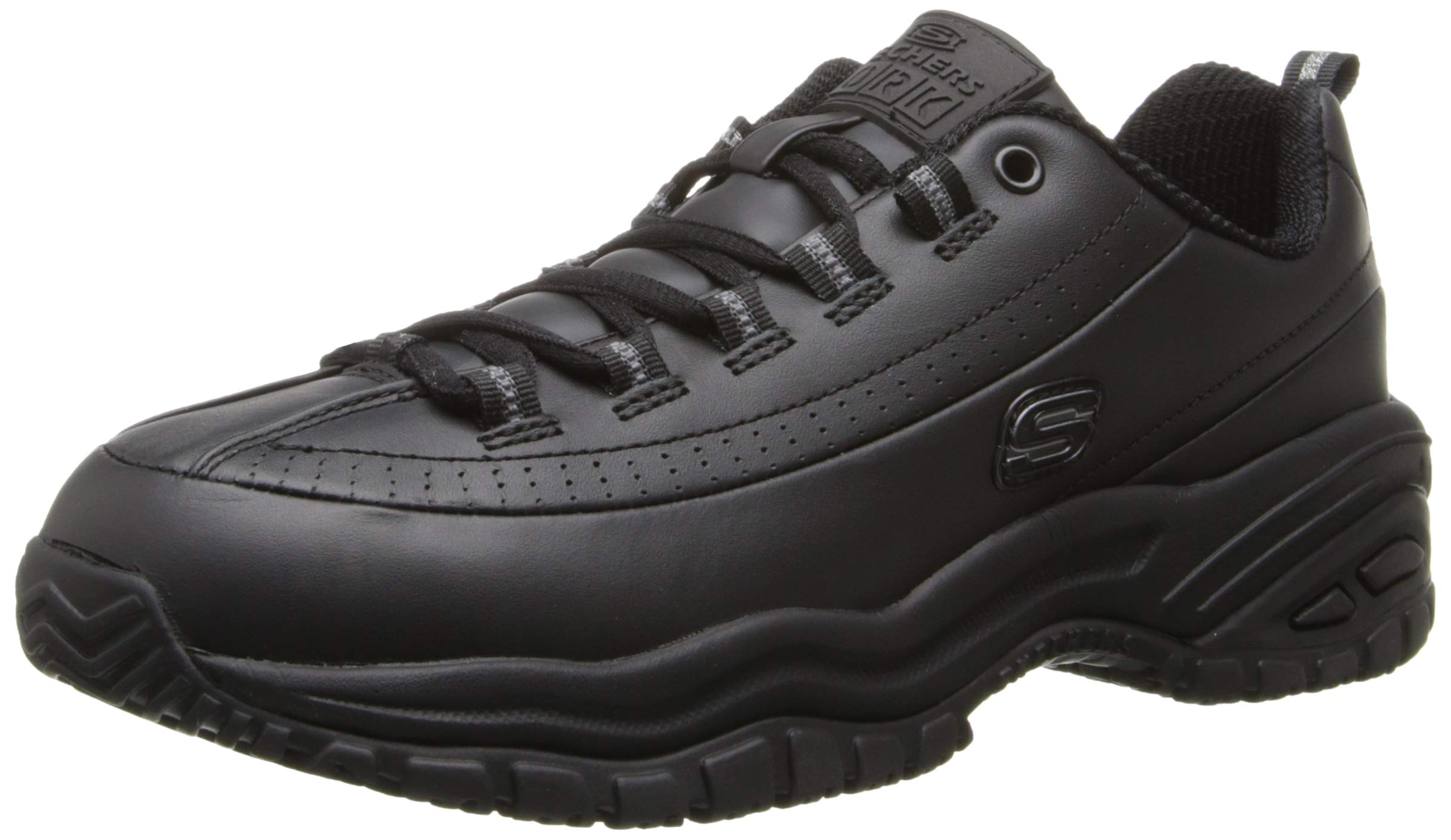 Skechers for Work Women's Soft Stride-Softie Lace-Up, Black, 8.5 D - Wide by Skechers