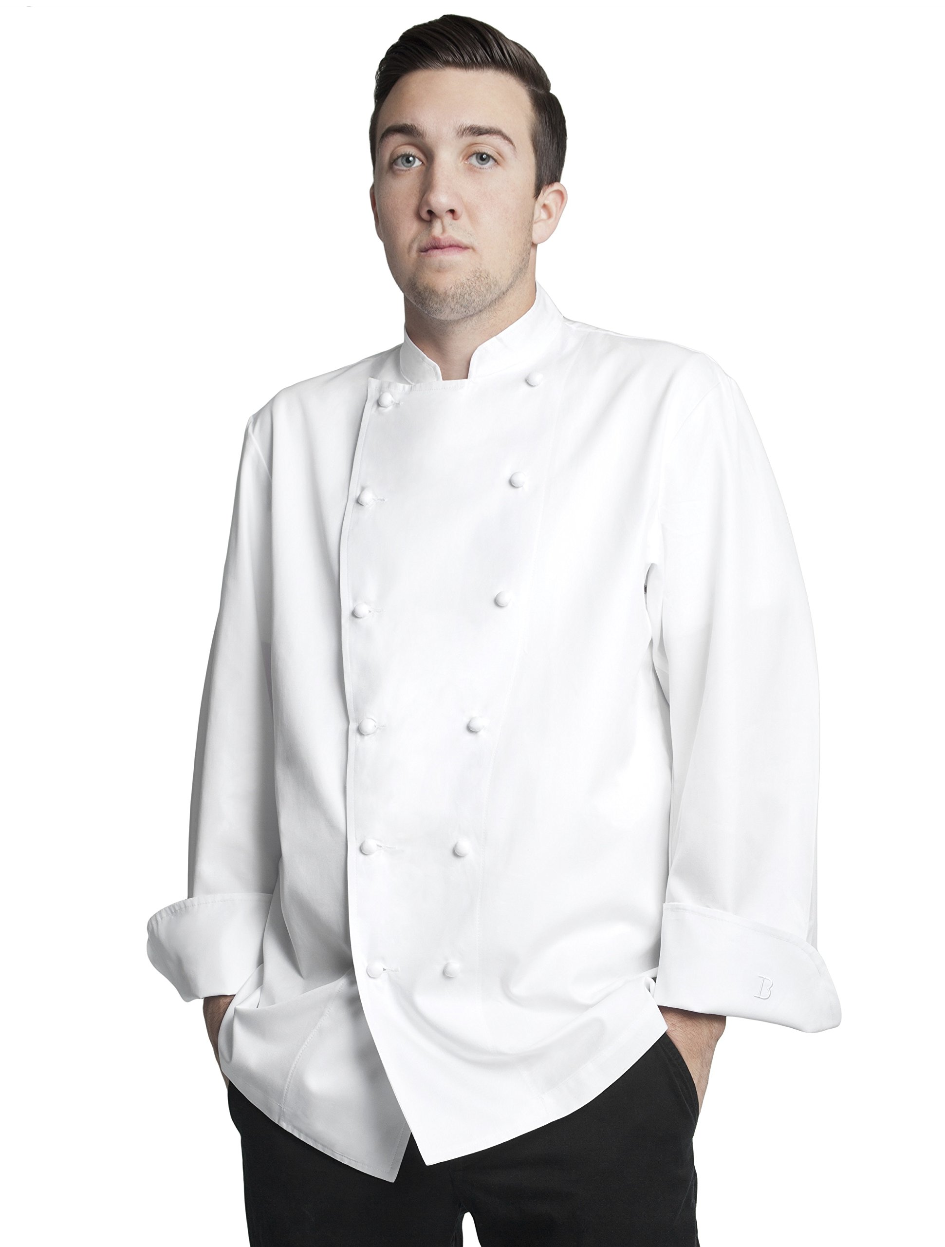 Bragard Men's Grand Chef Jacket Without Pocket 40 White by Bragard