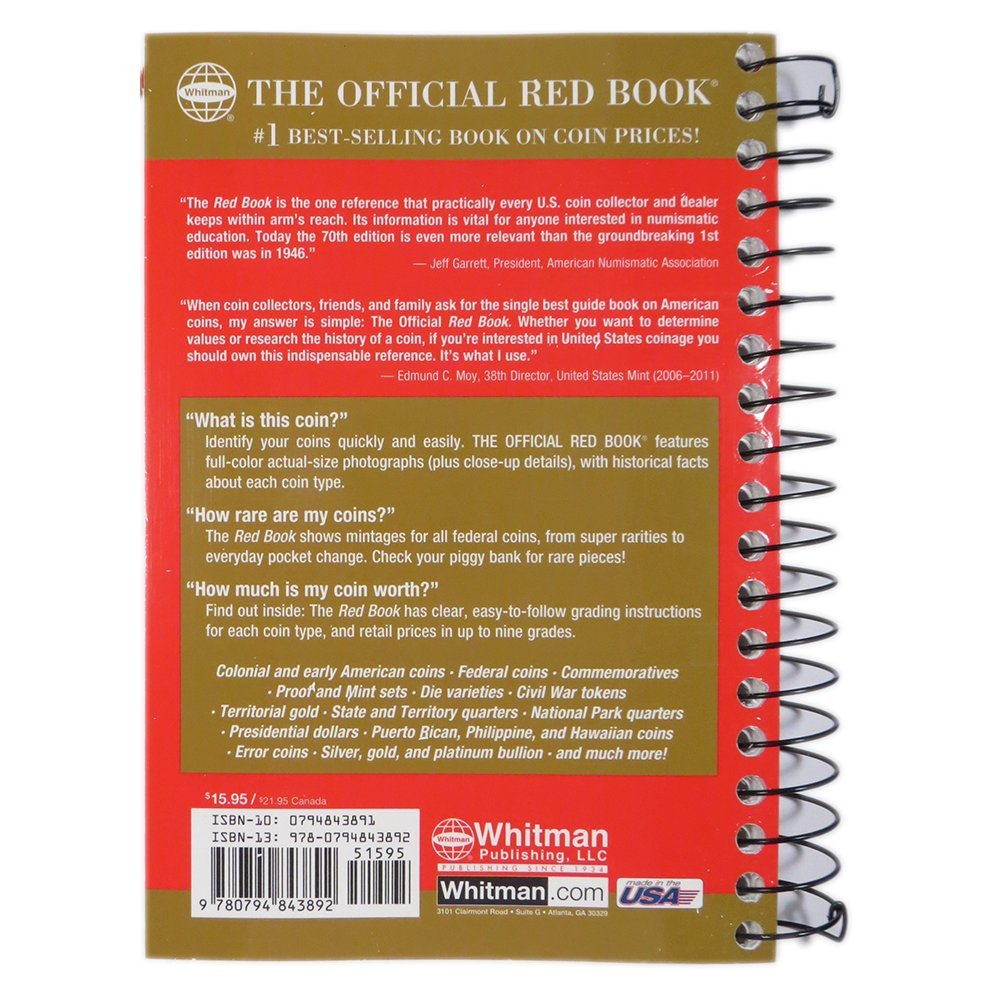 The Official Red Book A Guide Of Book Of US Coins - Us national park quarters book