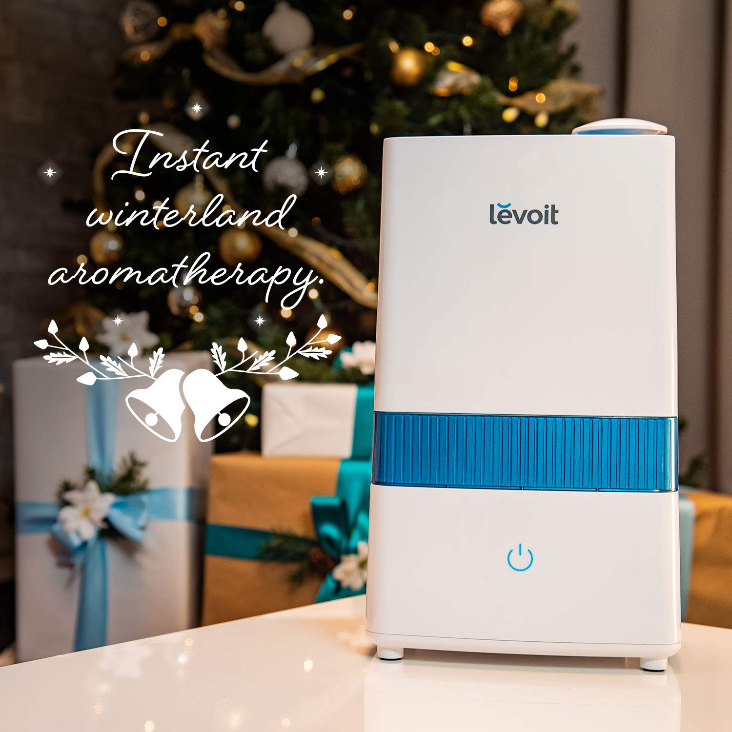 LEVOIT Cool Mist Humidifier, 4.5L Ultrasonic Humidifiers for Bedroom and Babies, Large-Capacity Vaporizer for Large Room, Whisper-Quiet, Auto Shutoff, Lasts up to 36 Hours, 2-Year Warranty