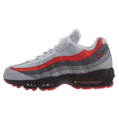 finest selection 2dd64 4c397 Nike Air Max 95 Essential Chaussures de Gymnastique Homme, Blanc  (White Bright Crimson