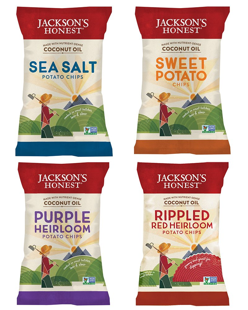 Jacksons Honest Heirloom Mix Variety Snack Pack (24 pack), As Seen on Shark Tank