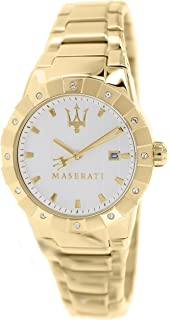 Maserati Womens Tridente R8853103502 Gold Stainless-Steel Swiss Quartz Watch