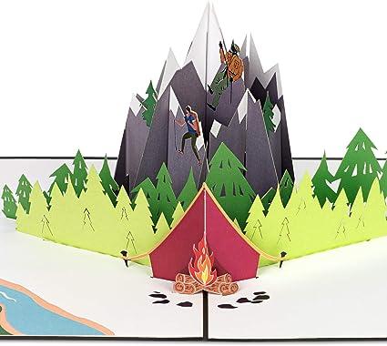 PaperCrush® - Tarjeta de felicitación 3D de cumpleaños, diseño de escalada