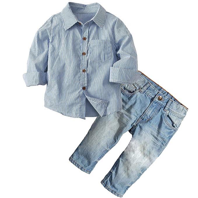 Amazon.com: Conjunto de ropa para niños de manga larga con ...