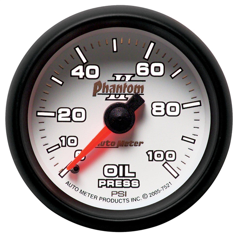 Auto Meter 7521 Phantom II Oil Pressure Gauge by AUTO METER