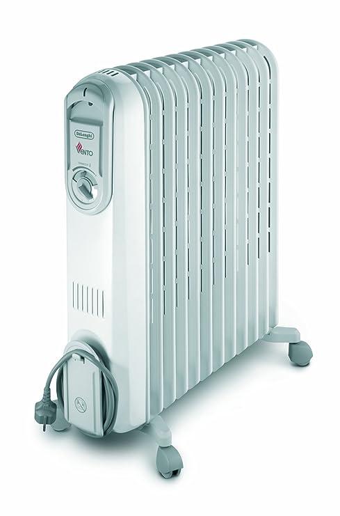 DeLonghi V551225 Blanco 2500W Radiador - Calefactor (Radiador, Aceite, Piso, Blanco,