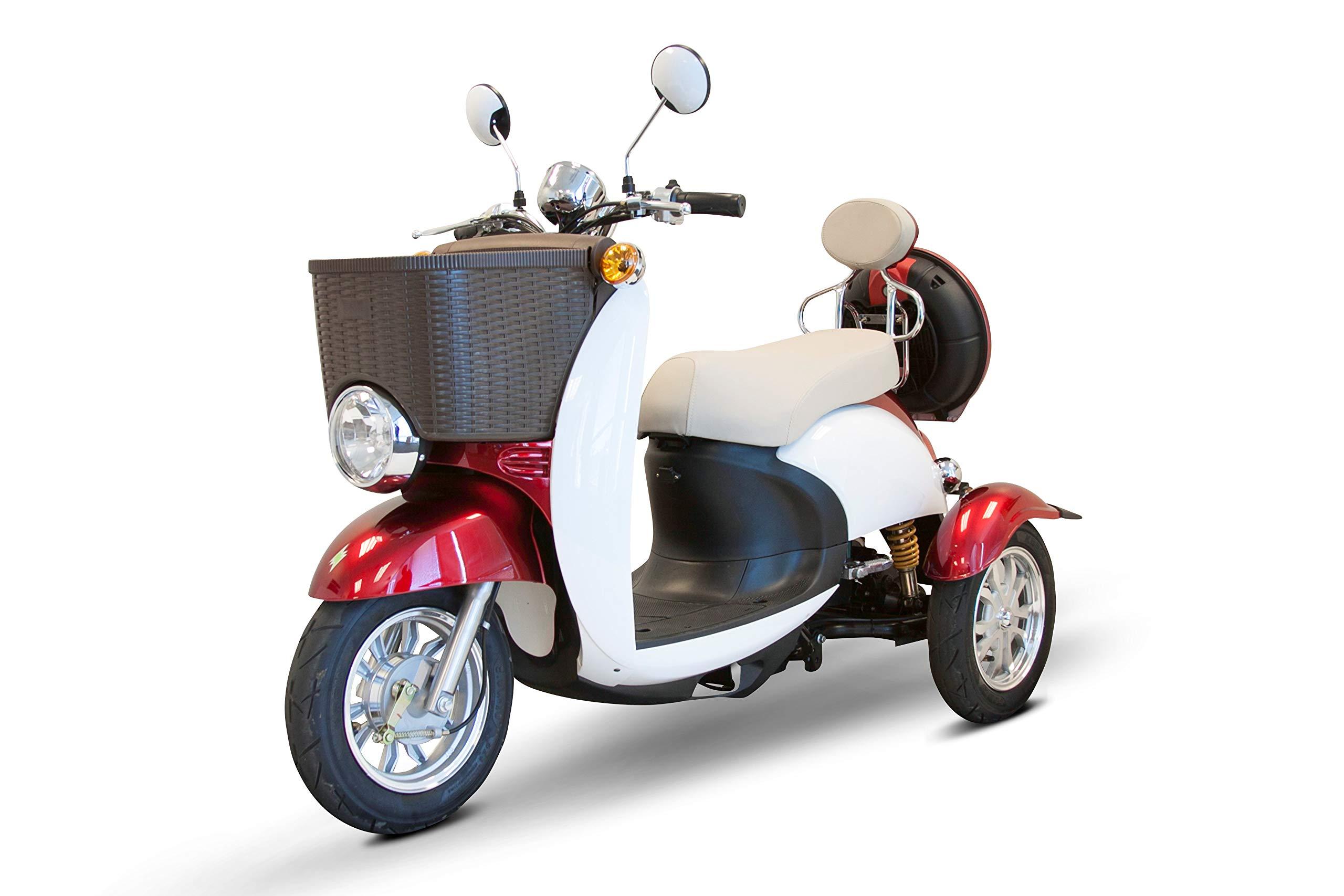E-Wheels - EW-11 Sport Euro Type Scooter - 3-Wheel - Red/White by eWheels