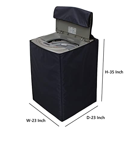 Dream Care Grey Waterproof & Dustproof Washing Machine Cover For Whirlpool Fully Automatic Top Load Whitemagic Royale 6.5Kg