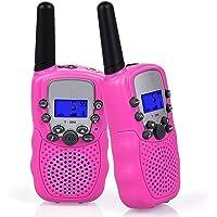 Flybiz Walkie Talkie Niños PMR446 8 Canales LCD Pantalla Función VOX 10 Tonos de Llamada Bloqueo