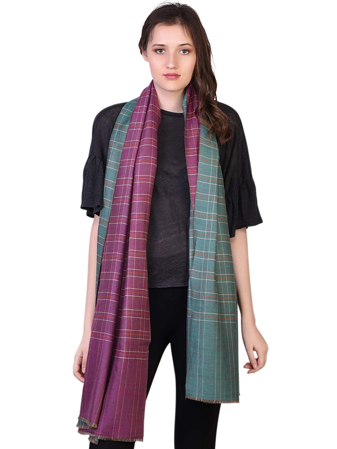 Hand Embroidery Autumn Winter 2019-20 Collection Luxurious Merino Wool Womens Pashmina Shawl Scarf Made in Kashmir by KASHFAB