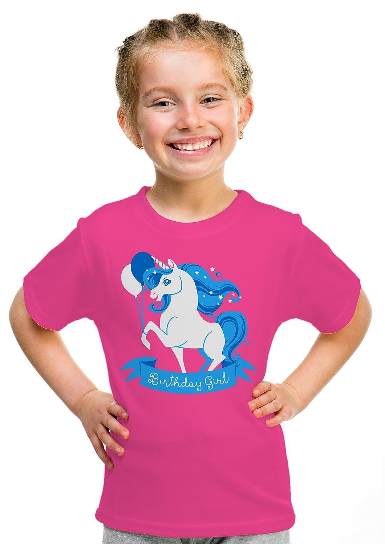 Birthday Girl Unicorn | Neon Pink Unicorn B-day Party Top Girls' Youth T-shirt Ann Arbor T-shirt Co. 0-sib_bdg_unicorn-youth
