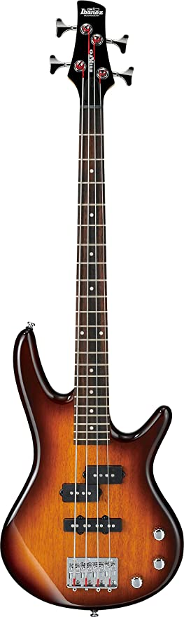 Ibanez 4 String Bass Guitar, Right, Brown Sunburst (GSRM20BS) best bass guitar