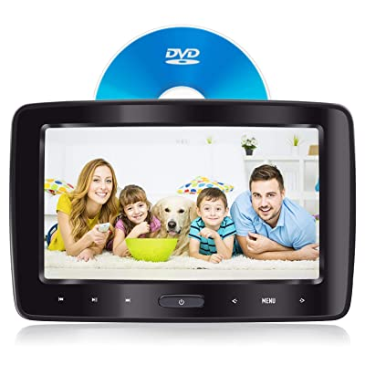 Headrest DVD Player for Car Can Use Both in Car or at Home as DVD Player eRapta Second Generation: Car Electronics