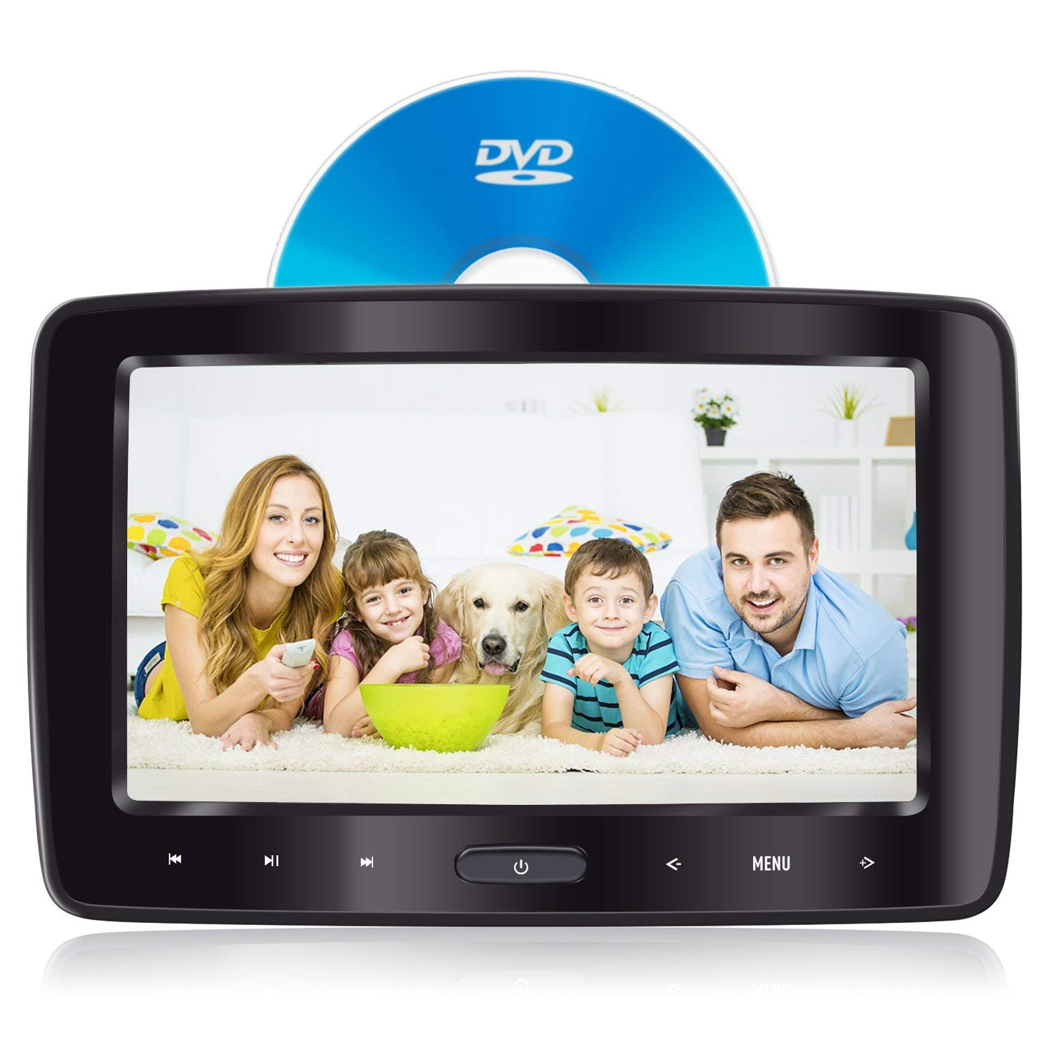 In-Car And At-Home Headrest DVD Player by eRapta