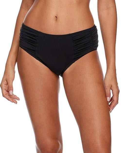 6ce569e43f Esky Skye Women's Alessia Hi Waist Ruched Bikini Bottom Swimsuit, So Soft  Black, X