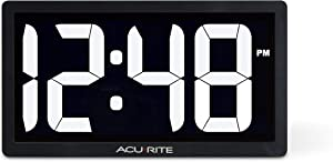 AcuRite 75114M 10-inch LED Digital Clock with Auto Dimming Brightness White