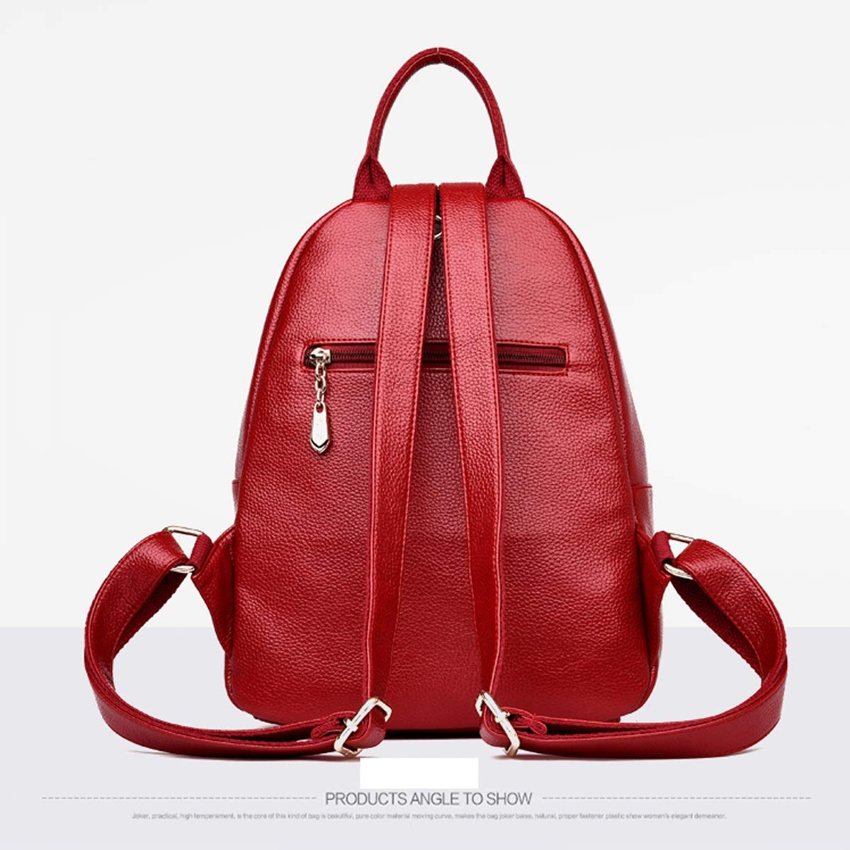 Five Colors PU Leather Stylish and Large Capacity. Haoyushangmao Girls Multi-Purpose Backpack for Everyday Travel//Outdoor//Travel//School//Work//Fashion//Leisure