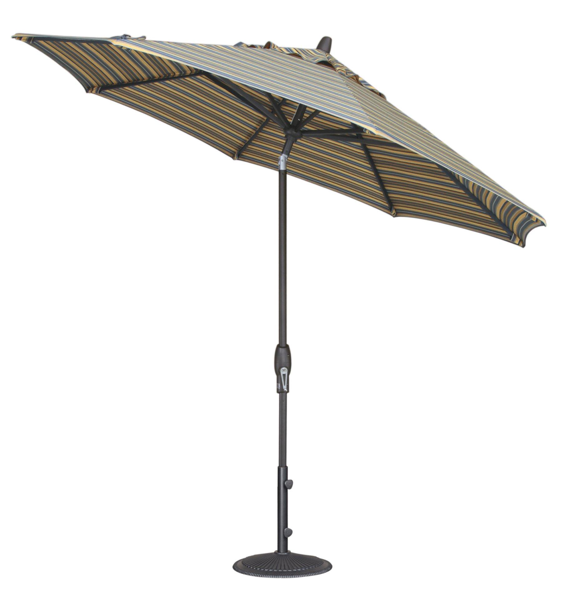 9-Foot Treasure Garden (Model 810) Deluxe Auto-Tilt Market Umbrella with Bronze Frame and Sunbrella Fabric: Canvas (Includes 3 Year Extended Frame Warrantee) by Treasure Garden (Image #4)