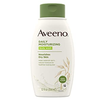Amazon Com Aveeno Daily Moisturizing Body Wash With Soothing Oat Creamy Shower Gel Soap Free And Dye Free Light Fragrance 12 Fl Oz Pack Of 3 Bath And Shower Gels Beauty