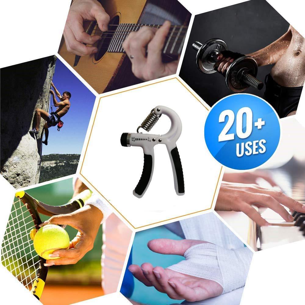 GOZATO Hand Strengthen Grip Adjustable Resistance 11-132 Lbs Finger Strength 5-60kg Hand strengthening Equipment and Wrist Strengthener - Hand Gripper Exerciser