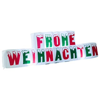 Schriftzug Frohe Weihnachten Beleuchtet.Homcom Weihnachten Weihnachtsdeko Aufblasbar Frohe Weihnachten Schriftzug Beleuchtet Led Xxl