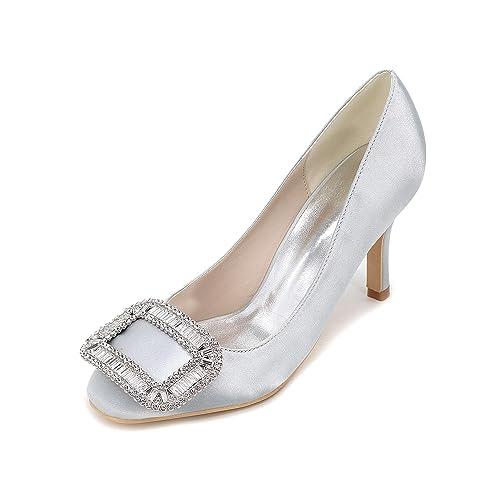 d3e287e1d4 CHENXIA Zapatos de mujer Tacón de aguja Pointed Toe Bombas   Tacones Boda    Fiesta y