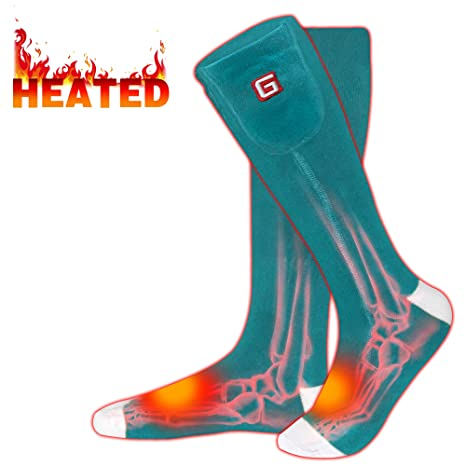 31e21ae20c Rabbitroom Electric Heated Socks Rechargeable 3.7V Li-ion Batteries Thermal  Insulated Socks for Arthritis