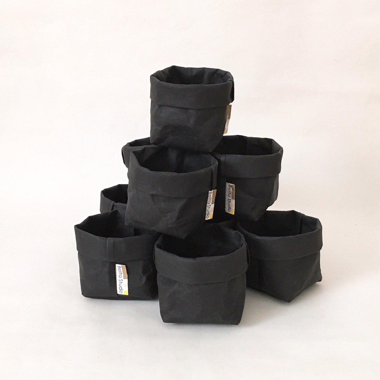 Kraft Paper STORAGE BASKET BLACK 3 x 3 x 3 inch