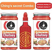 Ching's Secret Combo of Schezwan Chutney X 2 and Badnaam Chutney X 1 (Pack of 3)