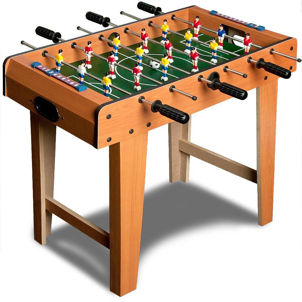 Mini Baby foot - Hauteur 62 cm - Table de babyfoot 18 mini joueurs jeux Football Deuba