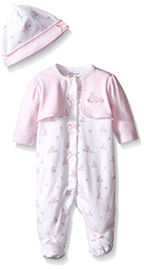 f72885089018 Amazon.com  Little Me Girls  Footie  Clothing