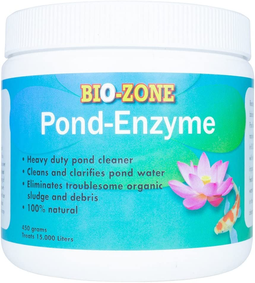 Bio-Zone Pond Enzyme Treatment – Ecofriendly Water Cleaner with Natural Reduces Bacteria, Fish Waste, Cloudiness –450 Grams Treats 15,000 Liters