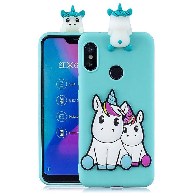 MOSORIS Funda para Xiaomi MI A2 Lite 3D Unicornio Patrón de ...