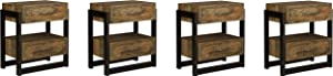 Ashley Furniture Signature Design - Sommerford Nightstand - Brown (Pack of 4)