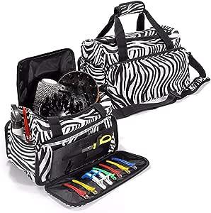 Luckyfine Hairdresser Bag Hairstylist Traveling Case Accessories Kit Handbag, Hairdressing Tools Bag Portable Salon Hairstyling Case Scissors Comb Holder Bag