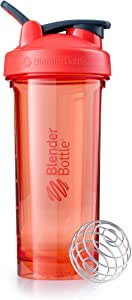 BlenderBottle Pro Series Shaker Bottle, 28-Ounce, Coral