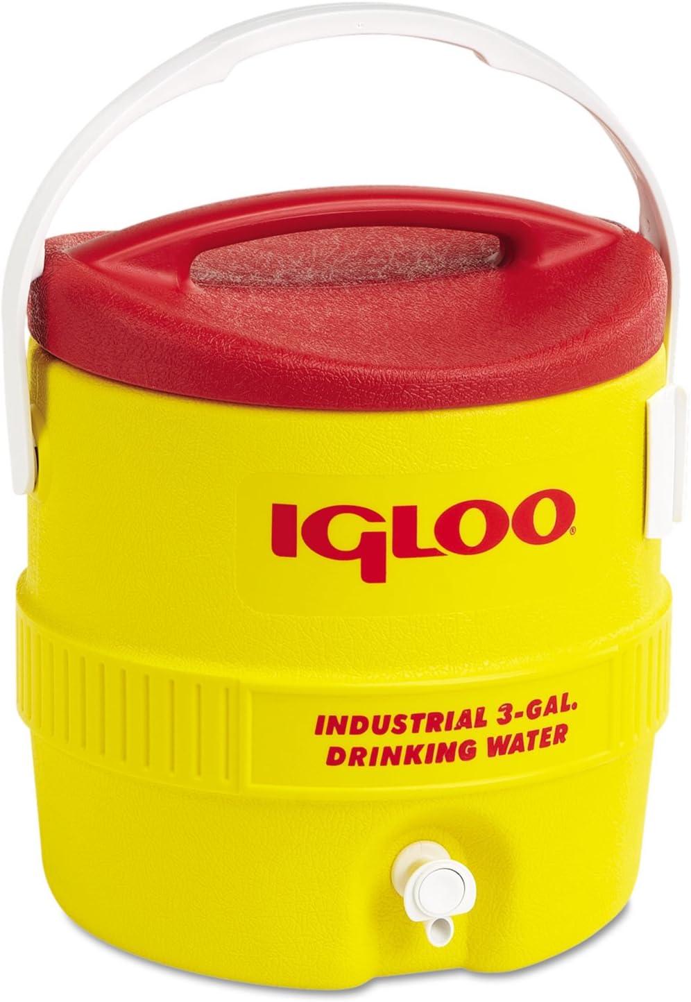 Igloo Beverage Cooler 3 Gal Yellow Red