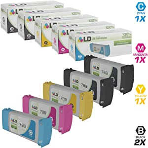 LD Remanufactured Ink Cartridge Replacement for HP 789 (2 Black, 1 Cyan, 1 Magenta, 1 Yellow, 5-Pack)