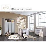2eac06972afda4 Babyzimmer Felix in akaziengrau 10 tlg. mit 3 türigem Kl. + Set Kleine  Prinzessin