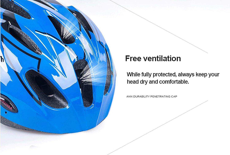 52-55 cm 55-58 cm casco da pattinaggio estivo circonferenza della testa adatta M Casco da bicicletta per bambino ragazzo ragazza semovente equipaggiamento protettivo da corsa per mountain bike L
