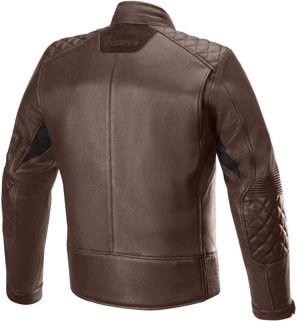 BLACK Alpinestars Chaqueta moto Hoxton V2 Leather Jacket Black 48
