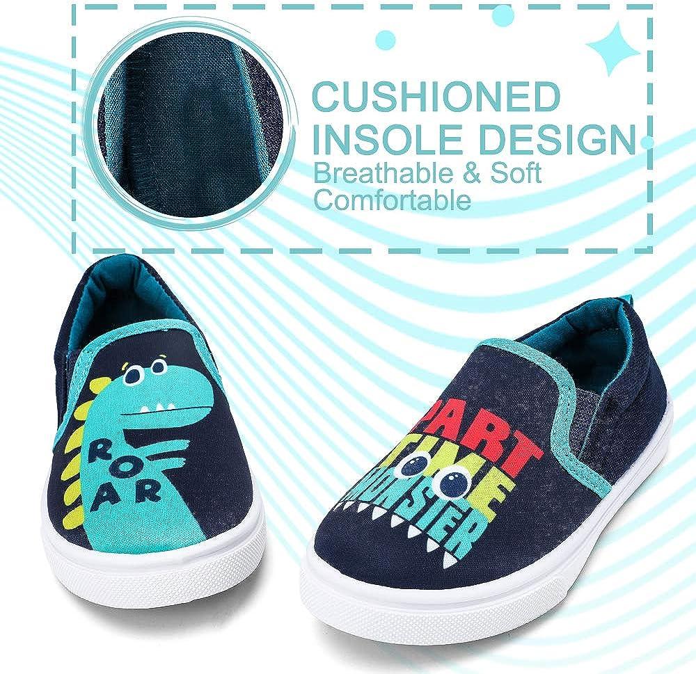okilol Toddler Shoes Slip On Canvas Sneakers for Boys /& Little Kids