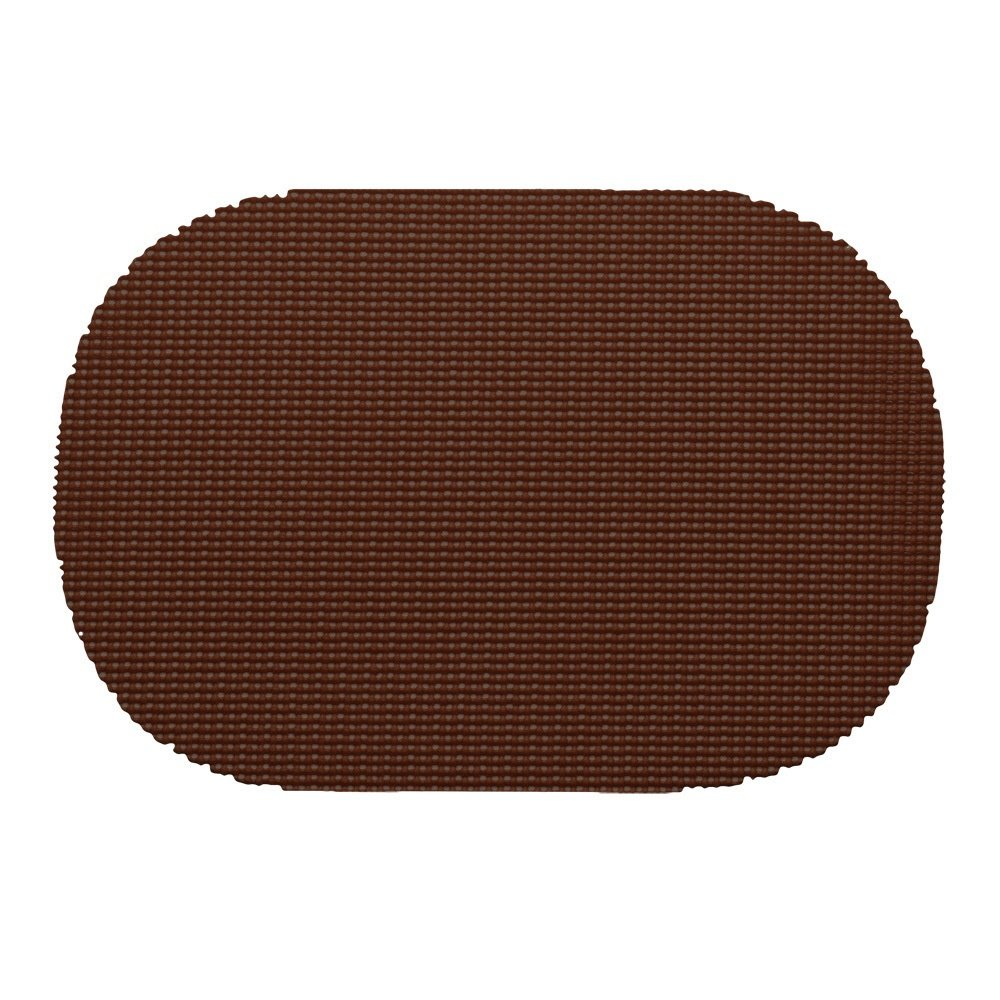 12 Piece Chocolate Placemats,(Set of 12), Machine Washable, Solid Pattern, Oval Shape, Contemporary And Traditional Style, Perfect For Everyday Entertaining, Season Or Holiday Lace Material, Coffee