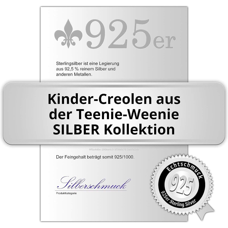 SilberDream cerchio con cuore in argento Sterling 925 bambini orecchini ad anello SDO076