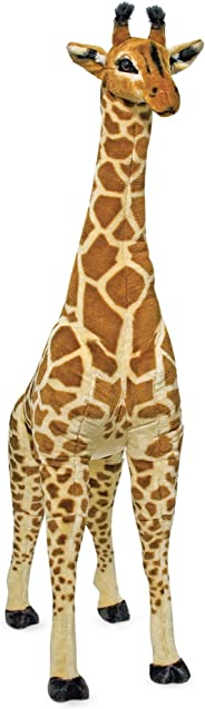 Melissa & Doug Giant Giraffe - The Original (Playspaces & Room Decor, Lifelike Stuffed Animal, Soft Fabric, Over 4 Feet Tall,